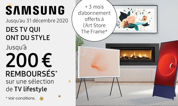 Sélection TV lifestyle Samsung