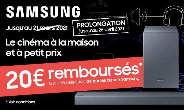 Sélection Samsung : le cinéma à la maison et à petit prix