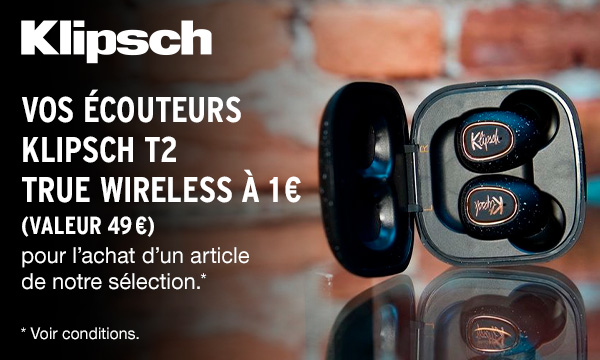 Sélection Klipsch promo écouteur True Wireless