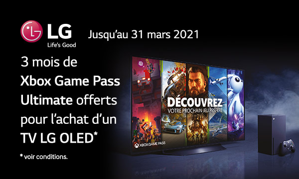 LG OLED : 3 mois de Xbox Game Pass Ultimate offerts