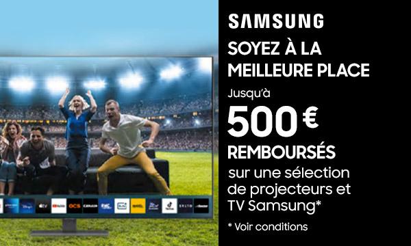 Sélection TV et vidéoprojecteur Samsung