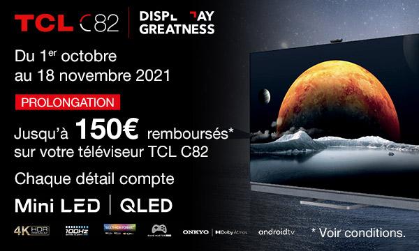TCL C825 : jusqu'à 150 € remboursés