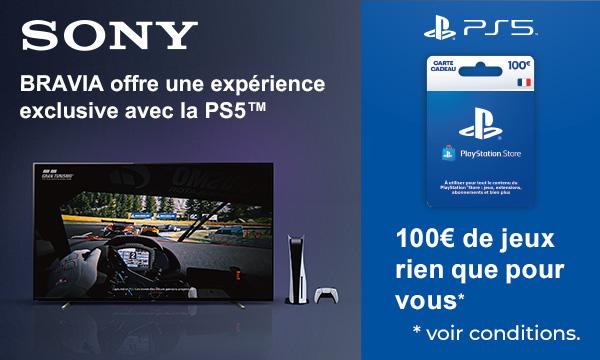 Sony Bravia XR : une carte cadeau Playstation Store offerte