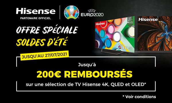 Hisense : jusqu'à 200€ remboursés