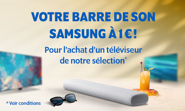 Sélection TV barre de son Samsung HW-S41T pour 1€