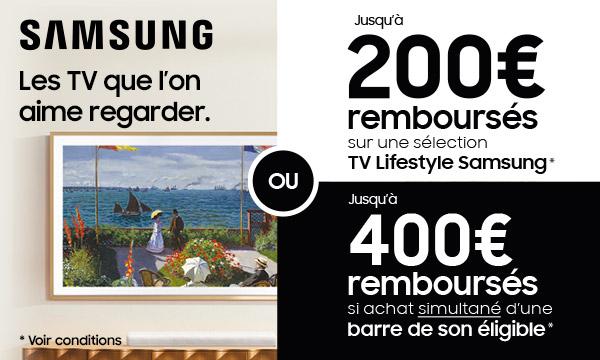 Sélection TV et barres de son Samsung