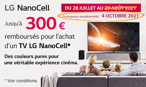 Offre de remboursement TV NanoCell LG