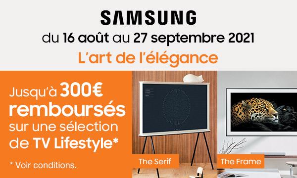 Séléction TV lifestyle Samsung
