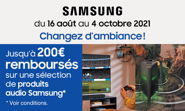 Samsung : changez d'ambiance