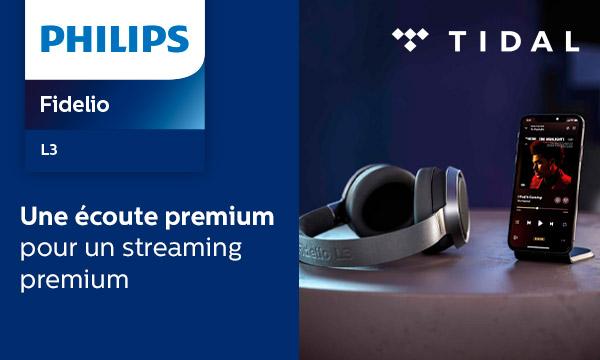Philips Fidelio : 3 mois d'abonnement Tidal HiFi