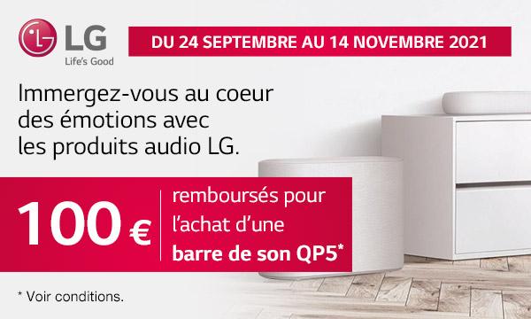 LG QP5 : 100 € remboursés