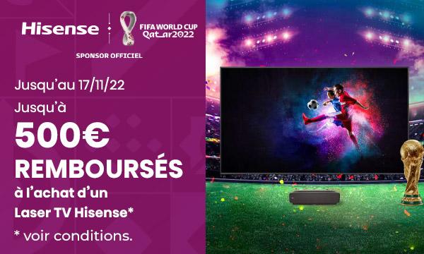 Hisense Laser TV : jusqu'à 500 € remboursés