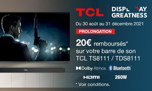 TCL TS8111 : 20 € remboursés