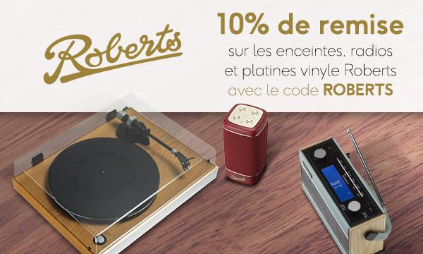 10% de remise sur Roberts