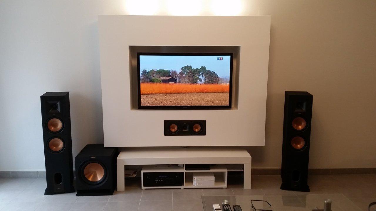 l installation home cinema de alban m. Black Bedroom Furniture Sets. Home Design Ideas