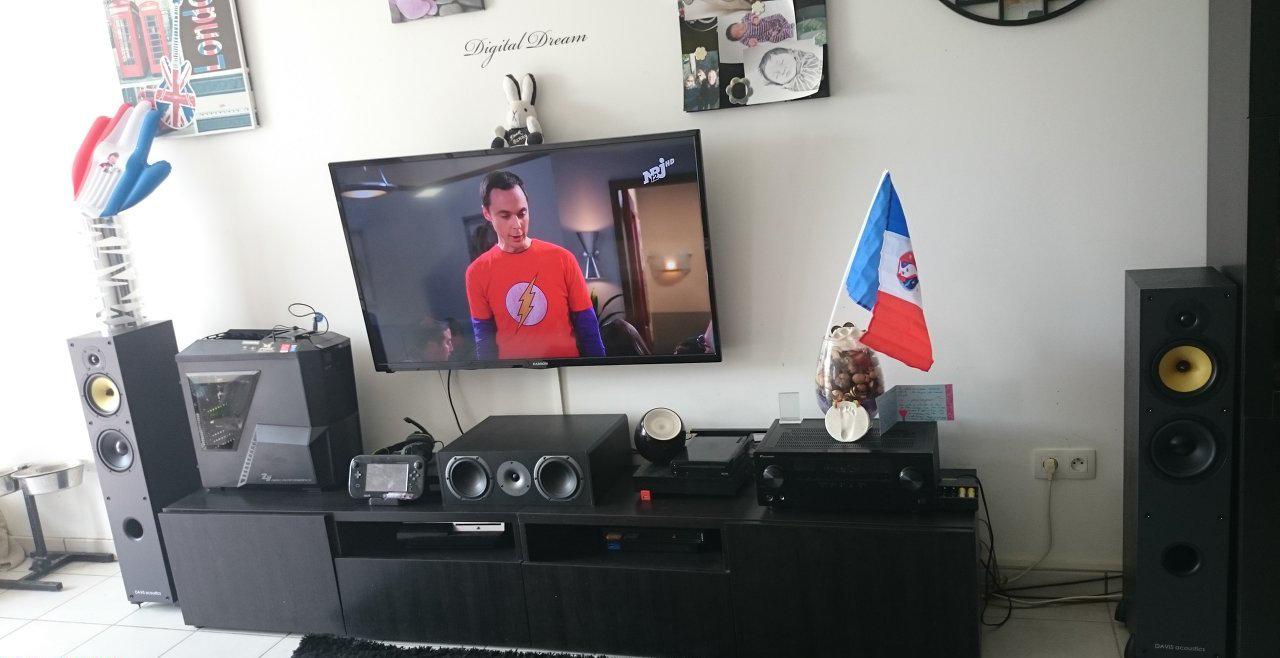 Installation Home Cinema De Alexandre L  # Meuble Tv Pour Ampli Home Cinema